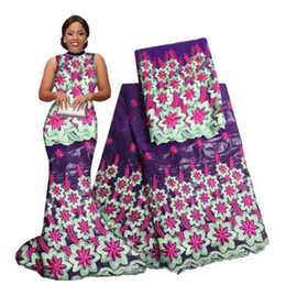Wholesale High Quality Brocade - African Guinea Brocade fabric High Quality with beaded 100% Cotton Bazin Lace Printed Jacquard For Man Bazin Riche Getzner