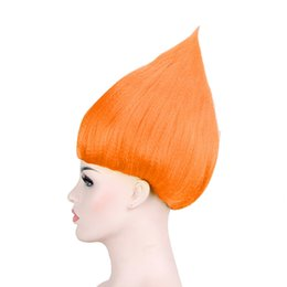 Wholesale Wig Black White Cosplay - Cartoon cosplay wig hair splay wig trolls trolls trolls trolls flame head