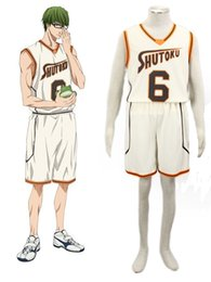 Wholesale Kuroko Cosplay - Wholesale-Midorima Shintaro Costume - Kuroko no Basket Midorima Shintaro Cosplay Light Yellow No.6 Mens Kuroko no Basket Cosplay Costume