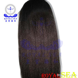 Wholesale Hair Wigs For Men Long - Royal Sea Hair Bliss Wigs Italian Yaki Human Hair Ponytail Long Dreadlocks Weave Fake Hair Men Human Hair For Brazilian Wigs