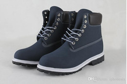 Wholesale Men S Winter Ankle Boots - 2014 New winter Leather Rubber Men Boots non-slip outdoor leisure shoes men ;s High-top shoes Warm Waterproof Snow Boots