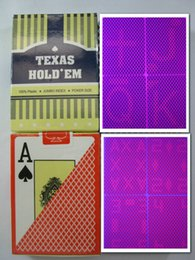 Wholesale Card Game Magic - Magic poker home-Texas Perspective poker, plastic poker, cheat poker, casino cheating, glasses Poke,mark card, gambling, 88x63mm