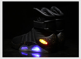 Wholesale Mag Sneakers - Drop Shopping Fashion Air Mag Top Quality Basketball Shoes Air Mag Sports Running Sneaker Black Grey Color Man Size39-46 DHL Free Shipping