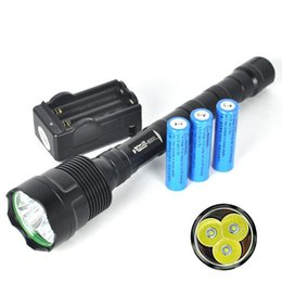 Wholesale Led Flashlight Free Battery - 6000LM Linternas 3T6 LED Tactical Flashlight Torch Lampe Torches Camping Torcia + Rechargeable 18650 Battery Charger Free Shipping