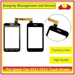 Wholesale Touch Screen St26i - High Quality For Sony Xperia Ericsson Xperia Tipo ST21 ST21i J ST26i ST26 Miro ST23i ST23 Touch Screen Digitizer Sensor Front Glass Lens