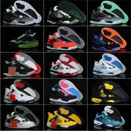 Wholesale Toro Bravo Shoes - Wholesale Top quality Bred 4s TORO 4 BRAVO Retro Black Tech Grey Oreo Men Women Basketball Shoes sneakers Free shipping