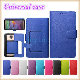 Wholesale Lg Cell Wallets - AAA Quality Universal Wallet PU Flip Leather Case Credit card Cover With 9 Colors For 4.0 4.5 5.0 5.5 Inch Cell Phone Mobile Phone