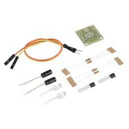 Canada Gros-Nouveau 5MM LED Simple Flash Light Simple Flash Circuit Production Board DIY Kit Set En Gros Offre