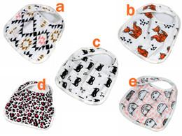 Wholesale Wholesale Batman Cloth - miracle Baby 5styles 2016 new Bibs INS Cotton soft bibs Cartoon Animal fox batman Muslin Anais baby Burp cloths 3 layers Feeding bibs