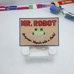 Wholesale Tv Repair Wholesaler - MR ROBOT FSOCIETY TV SHOW HIGH QUALITY PATCH IRON SEW ON - US SELLER computer repair with a smile