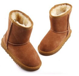 Wholesale Latex Hot Girls - 2016 Hot New Real Australia Top-quality Kid Boys girls children baby 5281 warm snow boots Teenage Students Snow Winter boots Free shipping