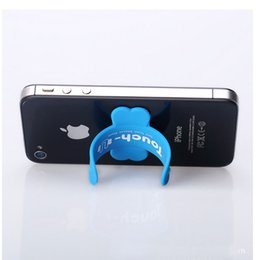 Touch u силиконовый держатель телефона онлайн-Сенсорный-U Силиконовый держатель мобильного телефона pops pat Lazy U-bracket корпоративный логотип пользовательские производители