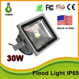 Wholesale Lamp Case - Stock in US High Quality 30W 50W LED Wash landscape Flood Light Lamp Outdoor Waterproof IP65 Gray Case 85-265V Flood Light CE,TUV