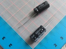 Wholesale radial electrolytic capacitors - Free shiping 100pcs 680uF 25V 8*16mm 105C Radial Electrolytic Capacitor