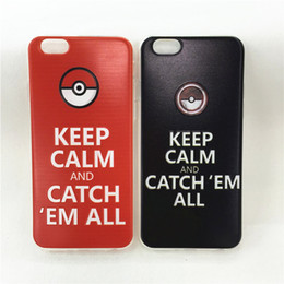 Wholesale Iphone Wit - New Poke Ball GO Soft TPU Clear Crystal Transparent Silicone Phone Cases Covers For iphone 6s plus 6S 5S Wit OPP Bag Package