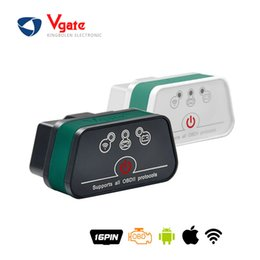 Wholesale Bmw Iphone Interface - 2016 Original Vgate WiFi iCar 2 OBDII ELM327 iCar2 wI-fi vgate OBD 2 ELM 327 diagnostic interface for IOS iPhone iPad Android
