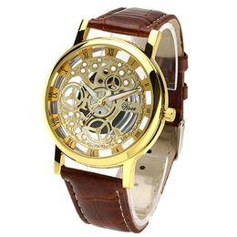 Wholesale Cheap Watches For Women China - 2016 fashion Luxury cheap watch mens hollow false mechanical watches for men women Couple wristwatch Relogio Masculino Wristwatches China