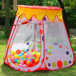 Wholesale Marine Ball Toy - Wishing indoor and outdoor tent large house game house baby princess theater portable marine ball pool baby toys playpen