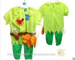 Wholesale Tinker Bell Clothes - Free shipping Peter Pan and Tinker Bell Vestido Cosplay clothing Para Halloween Fancy costume Bola for boys custom for party