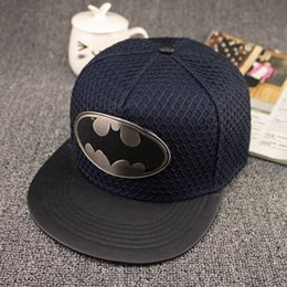 Wholesale New Batman Caps - Hot 2016 New Fashion Summer Brand Batman Baseball Cap Hat For Men Women Casual Bone Hip Hop Snapback Caps Sun Hats Free Shipping