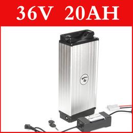 Canada Batterie au lithium 36V 20AH boîtier en aluminium support arrière batterie au lithium de 42V + chargeur + BMS, pack de vélo électrique droit de douane gratuit Offre
