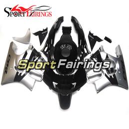 Wholesale Honda F3 Plastics - Motorcycle Injection Fairings For Honda CBR600F F3 95 96 1995 1996 ABS Plastic Fairing Kit Bodywork Fitting Black Sliver New Cowling