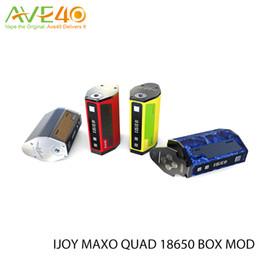 Wholesale Ergonomic Design - Original Ijoy Maxo 315W Quad TC Mod 18650 Battery Temperature Control MAXO QUAD Box Mod With Ergonomic Design