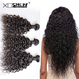 Wholesale Peruvian Big Waves Extensions - 50% off 100% Human Hair Bundles Wet And Wavy Virgin Brazilian Hair Brazilian Virgin Hair Water Wave Big Curly Hair Extensions Hair Weaving