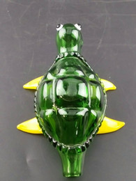 Wholesale Turtle Oil - Sea turtles Bubbler pipes 13cm Pipes for Smoking Colorful Oil Buner Pipes Bent Neck Smoking Pipes Tobacco Glass Pipes Cheap