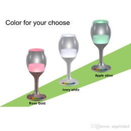 Wholesale Table Lamps Usb - Wine Glasses Rechargeable LED Cup Night Light Decor Bar USB Charging Cord 7 Color Changing Base Novelty Lighting Touch Sensor LED Table Lamp