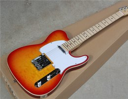 Wholesale Electric Guitar Quilted Maple - Hot Sale Electric Guitar with CS Color,White Pickguard,Quilted Maple Veneer and Can be Customized