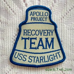 Wholesale Projects Sewing - Apollo Project Recovery Team USS Starlight Badge Sew On Patch Shirt Trousers Vest Coat Skirt Bag Kids Gift Baby Decoration