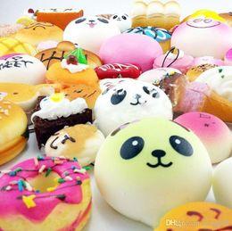 Wholesale Rilakkuma Big - 20 Different Styles Kawaii Squishy Rilakkuma Donut Soft Squishies Cute Phone Straps Slow Rising Squishies Jumbo Buns Bag Phone Charms CM059