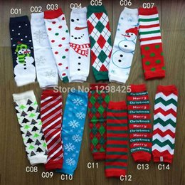Wholesale Snowman Leg Warmer - Merry Christmas Baby Leg Warmer Children snowman snow flake tree polka dot striped letter Leg Warmers Tights Adult Arm warmers 24Pcs=12Pairs