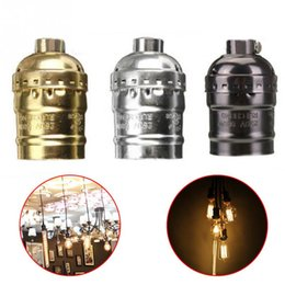 Wholesale Vintage Light Bulb Holder - E27 Aluminum Retro Antique Vintage LED Light Lamp Bulb Holder Socket Fitting Shade Lamp Bases