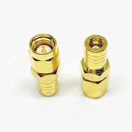 Wholesale Smb Adapter Connector - 10Pcs\Lot Freeshipping Gold Copper SMB Female to SMA Male Jack Plug Straight Adapter RF Coaxial Coax Connector