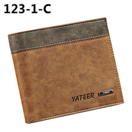 Wholesale Wholesale Wallets For Men - Wholesale- 2016 New Arrival Men's Faux Leather Wallet ID Credit Card Holder Money Purse Clutch Pocket Gift For Beauty And For Health