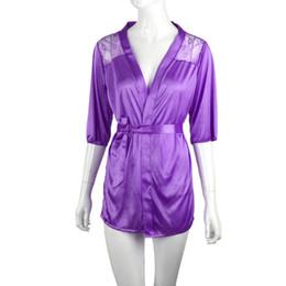 Wholesale Lingerie Sleeping Blue - Wholesale-2016 Summer Women's Sexy Lace NightDress Perspective gauze Lingerie Sleepwear Underwear G-string Sleep Dress Nightgowns