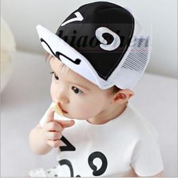 Wholesale Kids Panda Baseball Hat - Kids Ins Hats Mesh Grid Caps Fashion Cartoon Beanie Ins Baseball Caps INS Batman Clouds Hats Panda Tiger Hats Baby Printed Ins Caps A136 100