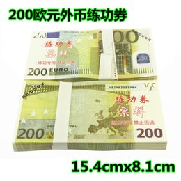 Wholesale Grade Practice - 100% real high-grade paper fake prop money 200 euro practice roll bank school training institutions film special props