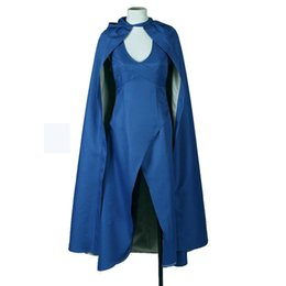 carnival costume designs UK - Womens Top Design Cosplay Show Costume Dress Cloak