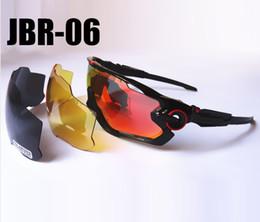 Wholesale Woman Sport 3pcs - 2016 brand new hot Jaw breaker Polarized sun glasses 3pcs Lens sunglass women men sport bicycle sunglasses glasses 13 Colors