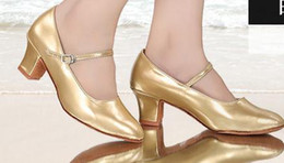 Wholesale Modern Women Office Dress - New women's modern dance shoes, adult heel dancing adult coarse and Waltz national standard dance acrobatics shoes
