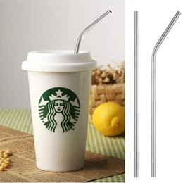 Wholesale Eco Reusable - 100pcs lot Stainless Steel Straw Steel Drinking Straws Reusable ECO Metal Drinking Straw Bar Drinks Party Stag