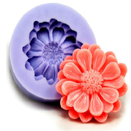 Wholesale Flower Die Cuts - 1PCS Cut 3D Flower Silicone Baking Fondant Cake Mold Chocolate Sugar Decoration Cake Decoration Die Dilica Gel