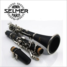 Wholesale Clarinet Cases - Selmer ABS 17 Key Clarinet B Flat Soprano Clarinet with Cleaning Cloth Gloves Screwdriver Reed Case Woodwind Music Instrumen