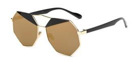 Wholesale Golden Burst - new two-color polarized sunglasses trend sunglasses polygon network burst section eyewear