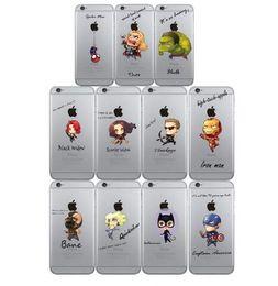 housse de l'iphone batman Promotion Couverture Spider Man The Avengers TPU Téléphone cas pour Apple iPhone 6 6S Case Iron Man Captain America Raytheon Batman iphone6s cas Livraison gratuite