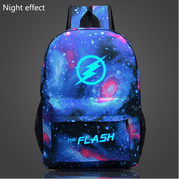 Wholesale Galaxy Print Bags - 2016 Flash Glow backpack Galaxy Luminous Printing Backpack Animation Backpack School Bags for Teenagers Mochila