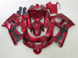 Wholesale Suzuki 1997 - 4 Free gifts Full Fairings kit for SUZUKI SRAD GSXR 600 750 1996 1997 1998 1999 2000 fairing set gsxr600 gsxr750 96-00 red black